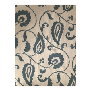 Schumacher Malacca Ikat Vine Printed Fabric