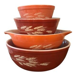 Pyrex Autumn Harvest Mixing Bowls - Set of 4