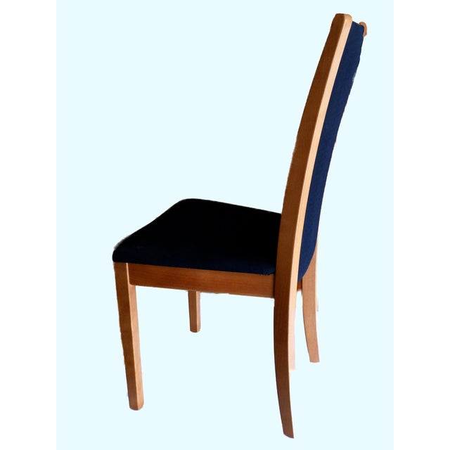 Skovby Cherry & Black Dining Chairs - Set of 8 - Image 3 of 6