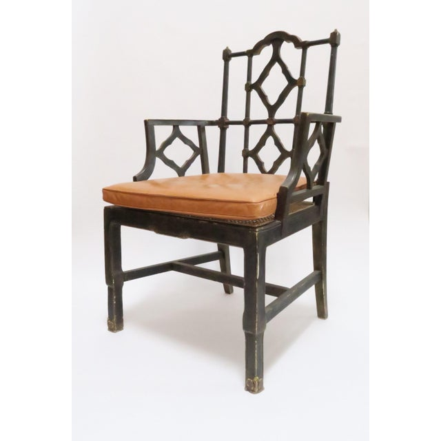Vintage Chinoiserie Style Wooden Chair - Image 3 of 8