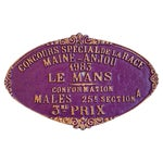 Image of Vintage 1983 Purple Le Mans French Prize Trophy