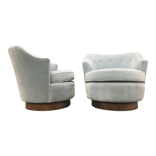 Mid-Century Modern Mohair Chairs - A Pair - Image 1 of 10