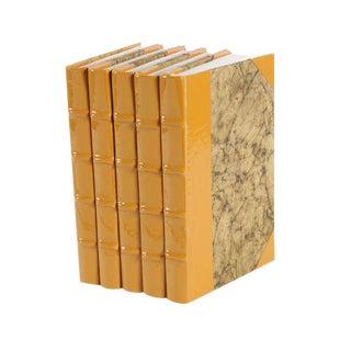 Patent Leather Mustard Books - Set of 5