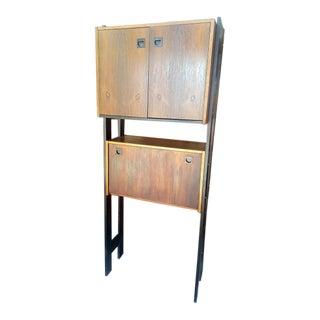 Mid-Century Modern Shelf With Fold Down Desk