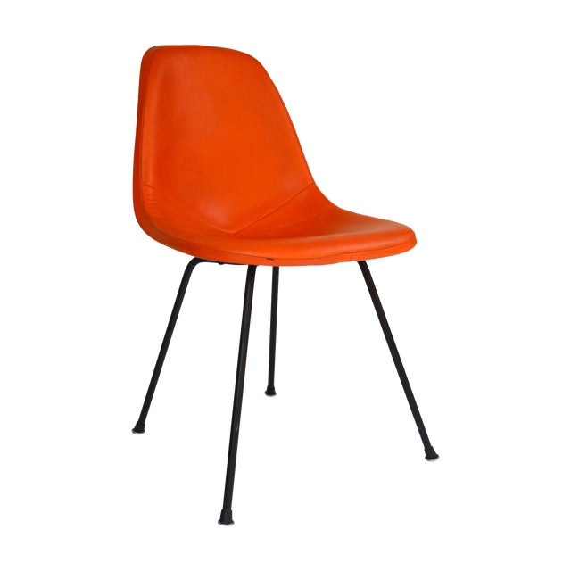 Herman Miller Eames Orange Vinyl Side Shell Chair - Image 1 of 9