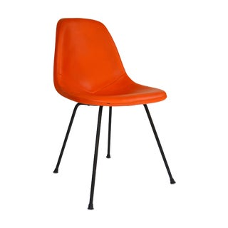 Herman Miller Eames Orange Vinyl Side Shell Chair