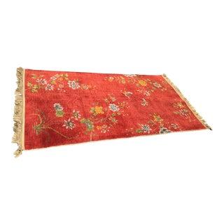 Vintage Chinese Wool Rug - 3′10″ × 7′3″