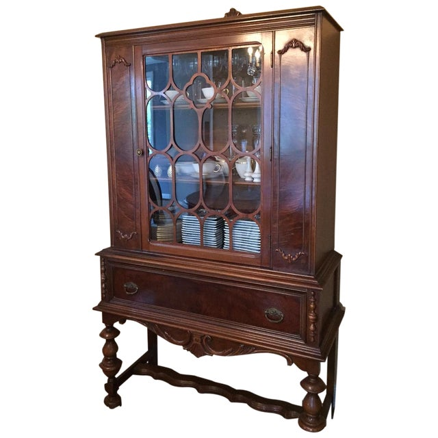 Traditional Solid Wood Hutch - Image 1 of 4
