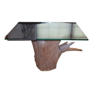 Verina Baxter Cedar Wood and Glass Coffee Table