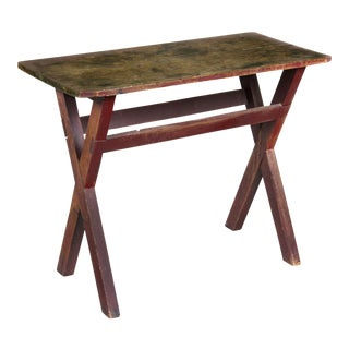 Pine & Maple Sawbuck Side Table