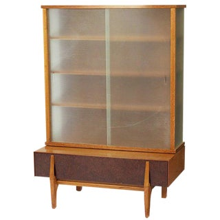 John Keal Wall Unit / Vitrine with Drawers for Brown Saltman