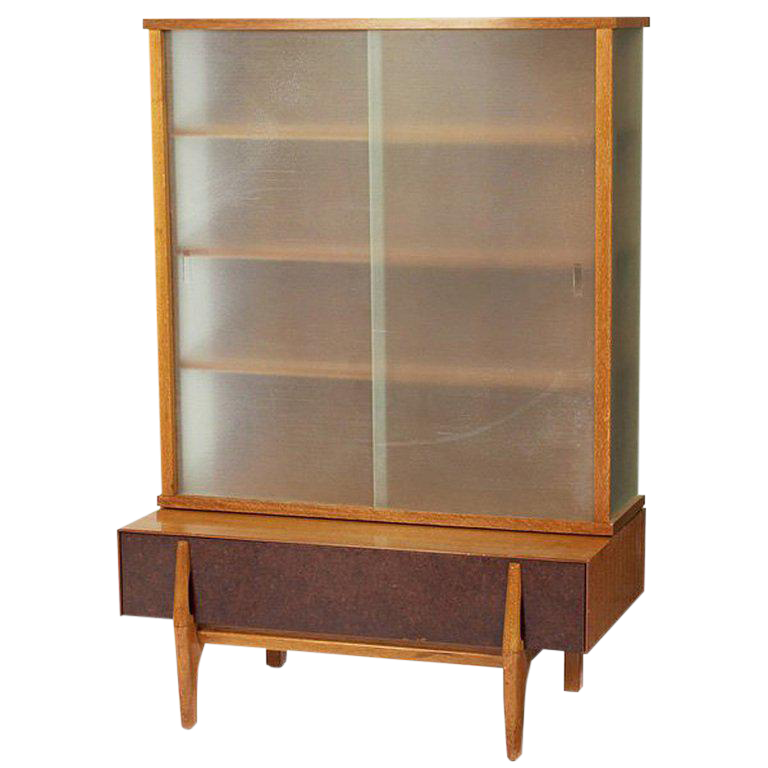 john keal wall unit vitrine with drawers for brown saltman