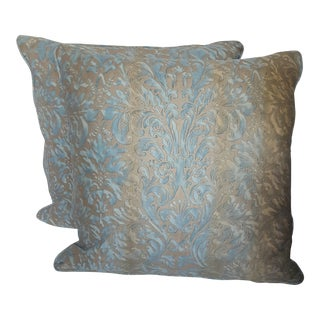 Mariano Fortuny Damask Pillows - a Pair