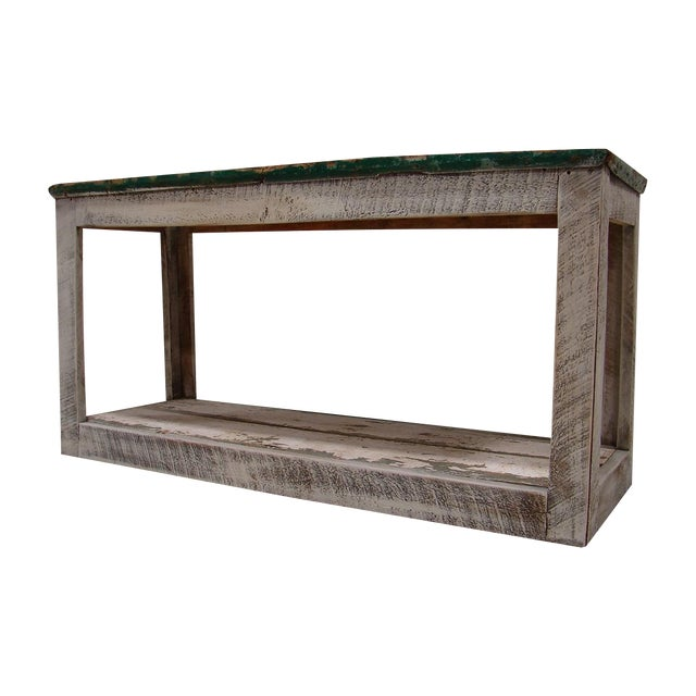 Primitive Console Table Vanity Cabinet - Image 1 of 3