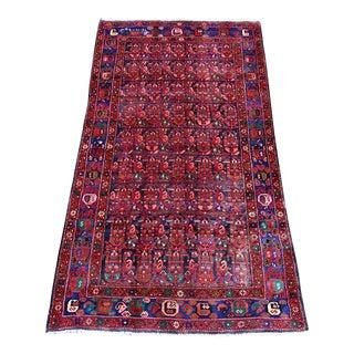 Vintage Hosseinabad Rug - 4″ × 8″