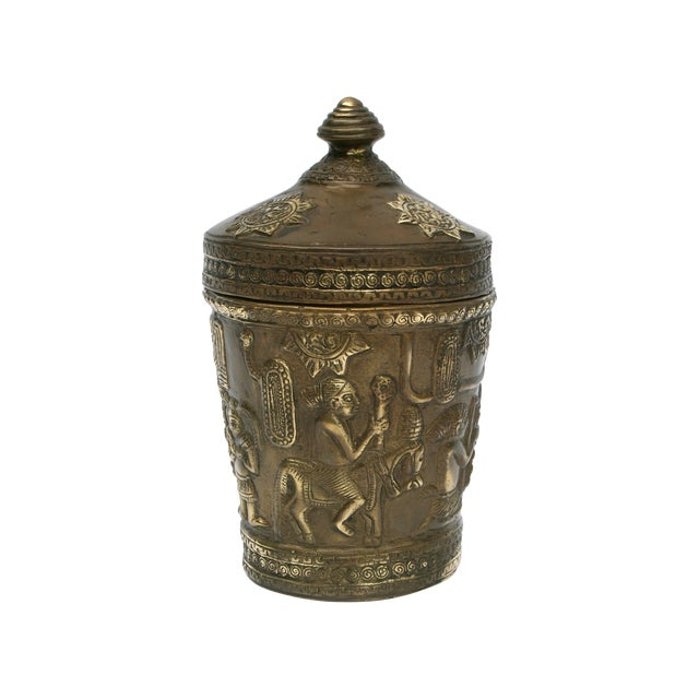 Decorative Indonesian Bronze Jar - Image 1 of 6