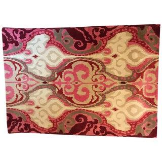 """Surya Pink & White Wool Rug - 7'8"""" x 11'4"""""""