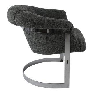 Milo Baughman Chrome Based Armchair