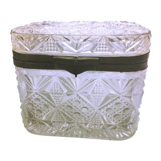 Early 20th Century Pressed Glass Casket
