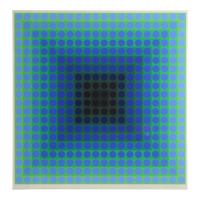 CTA - Blue by Victor Vasarely - Image 1 of 4
