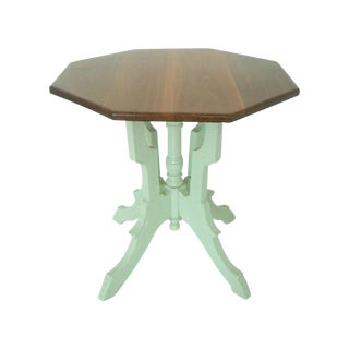 Victorian Cherry Top Table With Lime Spritz Base