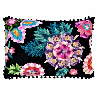 Secret Garden Embroidered Pillow