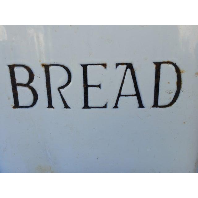 1930's English Enamel Bread Bin - Image 3 of 6