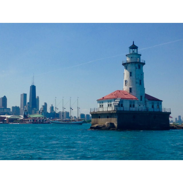 Image of Navy Pier Lighthouse and Chicago Skyline Photo by Josh Moulton