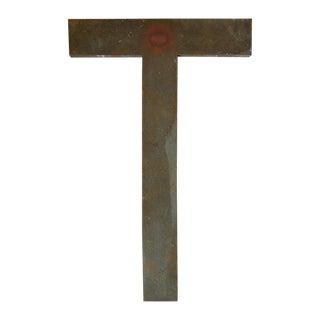 Vintage Bronze Letter T - Large