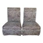 Zebra Print Slipper Chairs - A Pair