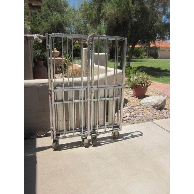 Industrial Rolling Freight Cart Garment Rack - Image 3 of 4