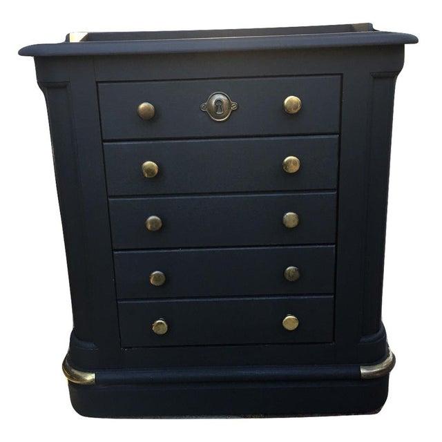 National Mount Airy Black & Gold Beadboard Dresser - Image 10 of 10