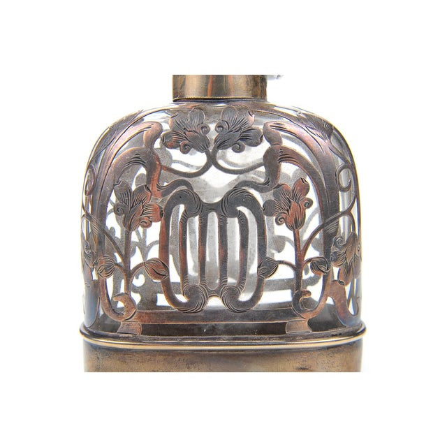 Antique 19th C. Sterling Silver & Glass Flask - Image 7 of 9