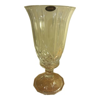 Crystal Deplomb Glass Hurricane Candle Holder
