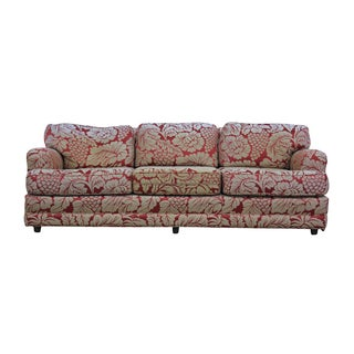 Red and Cream Floral Sofa