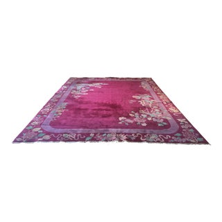 Chinese Deco Pink Rug - 8′10″ × 11′6″