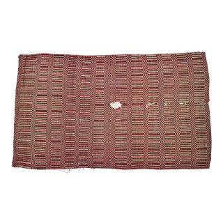 Native American Navajo Indian Wool Rug Saddle Blanket - 2′11″ × 4′11″