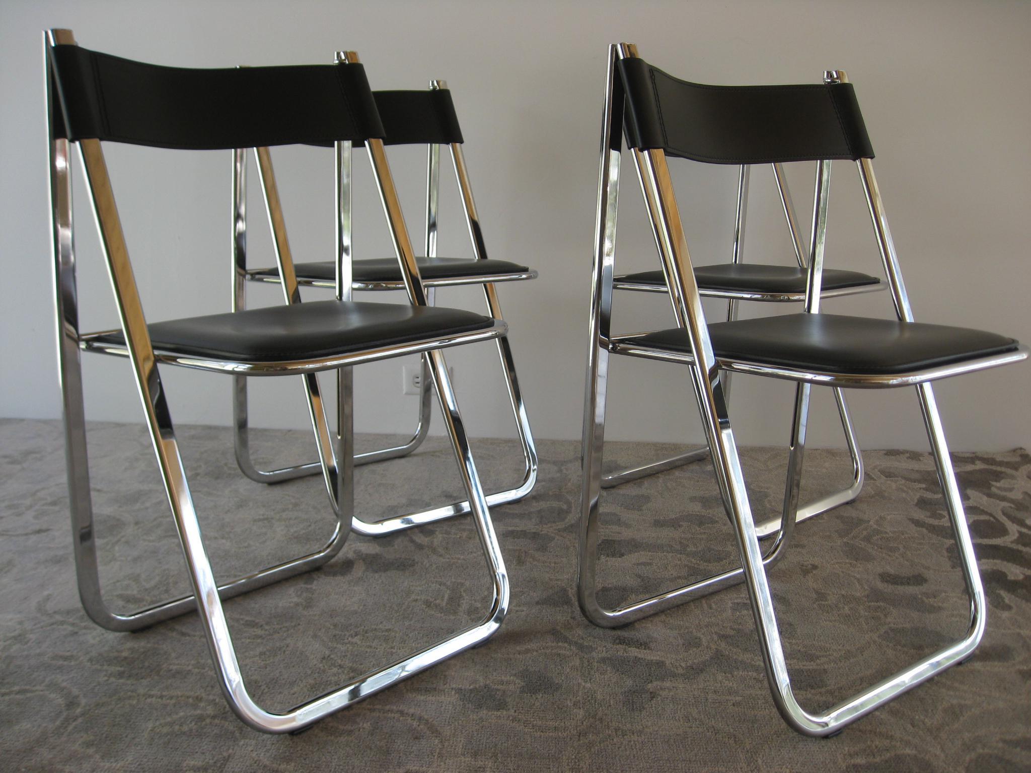 Arrben Tamara Italian Folding Chairs   Set Of 4   Image 3 Of 11