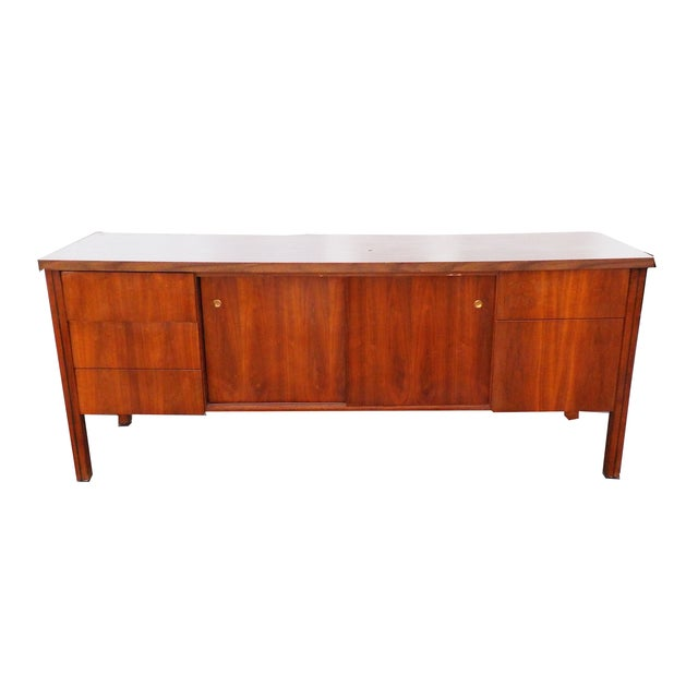 Mid Century Modern Wood Credenza - Image 1 of 6