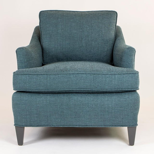 Image of Teal Woven Armchairs - Pair