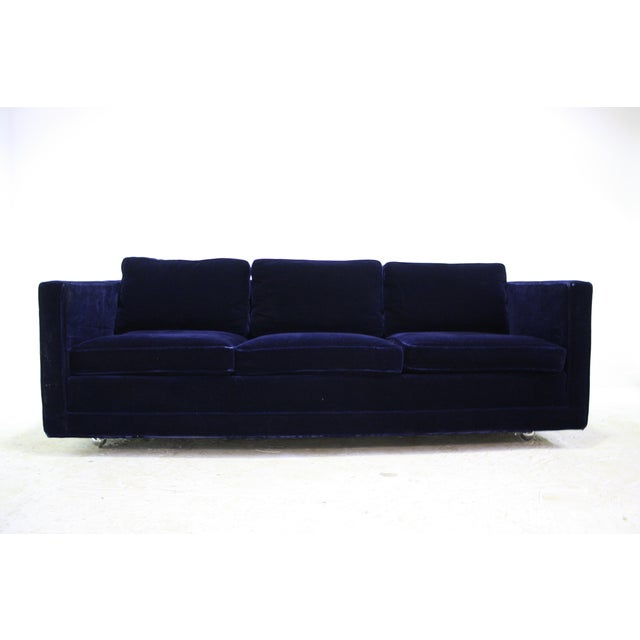 Ward Bennett Sofa in Navy Blue Mohair by Brickell - Image 2 of 7