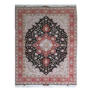 Tabriz Hand-Knotted Persian Silk & Wool Rug - 5″ × 7″
