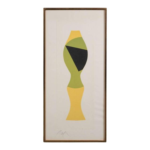 Mid-Century Modernist Woodcut by Hans Arp Poupee Sans Tete, 1964 - Image 1 of 8