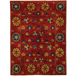 "Suzani, Hand Knotted Area Rug - 8' 2"" x 10' 8"""