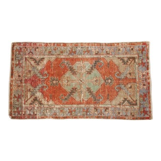 "Vintage Distressed Oushak Rug Runner - 2'8"" x 4'9"""