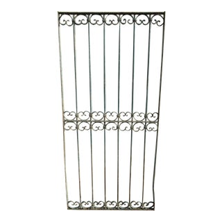 Antique Victorian Iron Gate Window Garden Fence Architectural Salvage Door #041