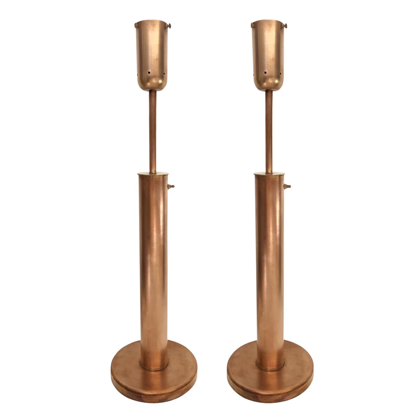 Mid Century Modern Copper Table Lamps