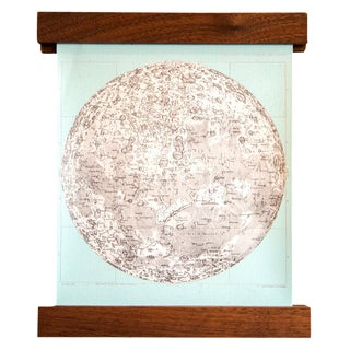Aqua Mini Moon Chart Art Print