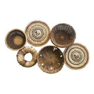 Bohemian Wall Baskets - Set of 6