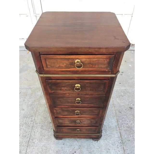 Antique Walnut & Brass Chest of Drawers - Image 4 of 11